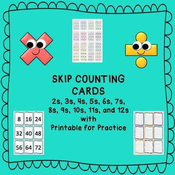 Skip Counting Cards with Practice Printable