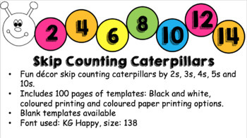 Skip Counting Caterpillars