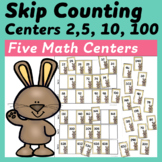 Five Skip Counting Centers (2, 5, 10, 100)