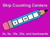 Skip Counting Center 2s, 5s, 10s, 25s, and backwards