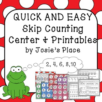 Skip Counting Center and Printables
