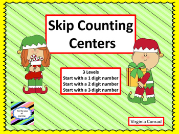 Skip Counting Center or Whole Group Activity---3 levels---
