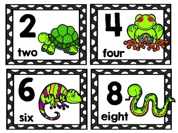 Skip Counting MathCenters & Activities with a Slimy Creature Theme