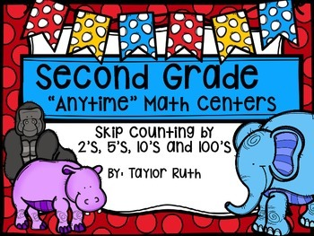 Skip Counting Math Centers & Activities with a Zoo Animal Theme