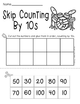 Skip Counting Centers- By 2s, 5s and 10s