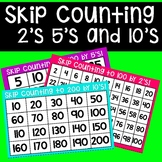 Skip Counting Chart (2's, 5's and 10's)