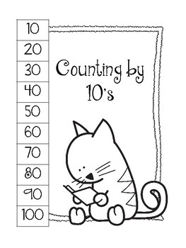 Skip Counting Charts. Counting by 2's-10's. Coloring Sheets.Interactive Notebook
