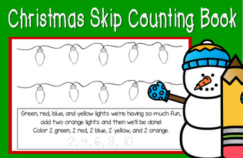 Skip Counting Christmas Book