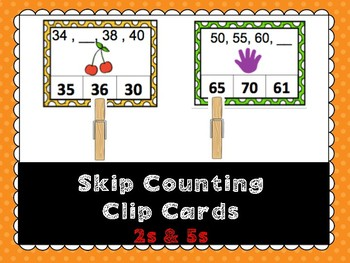 Skip Counting Clip Cards- 2s & 5s