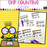 Skip Counting Clip Cards- Counting by Twos, Fives, and Tens