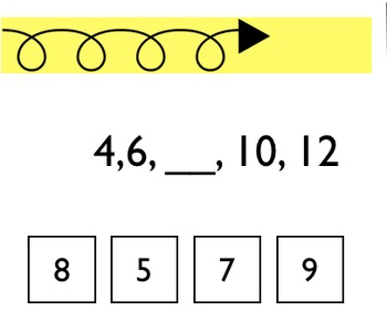 Skip Counting Clip Station 2's,5's,10's