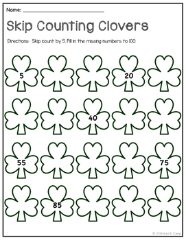 Skip Counting Clovers