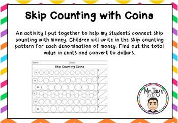 Skip Counting Coins - FREEBIE