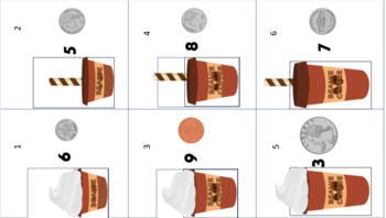 Skip Counting Coins by Counting Coins/ Money Coffee Shop