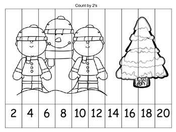 Skip Counting Coloring Puzzles {WINTER} by Jessica\'s Resources | TpT