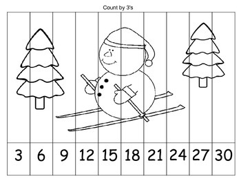 Skip Counting Coloring Puzzles {WINTER}