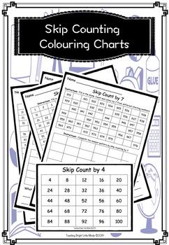 Skip Counting Colouring Charts