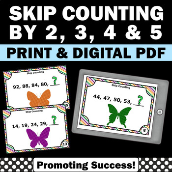 Skip Counting Games, Number Patterns, Skip Counting by 2's, 3's, 4's and 5's