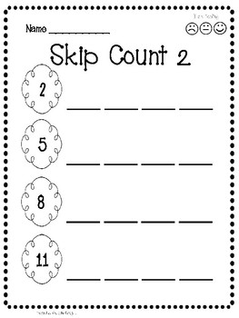 Skip Counting - Complete the Sequence Worksheet Activity
