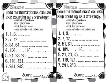 Skip Counting/ Counting-By Worksheet