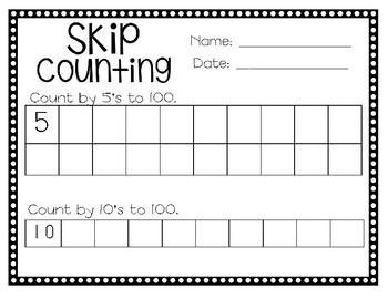 Skip Counting - Counting by 5's and 10's