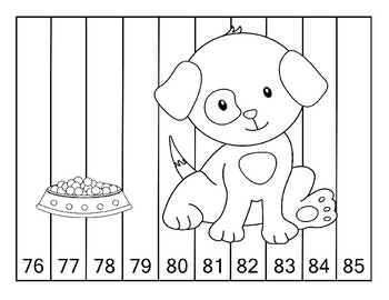 Skip Counting Cut & Paste 1s, 2s, 5s, 10s Dog Themed 15 Pages