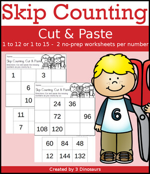 Skip Counting Cut & Paste