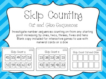 Skip Counting - Cut and Glue Worksheet Activity