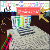 Skip-Counting Dab - Math Centers - Multiplication