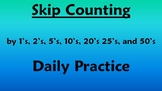 Skip Counting Daily Practice