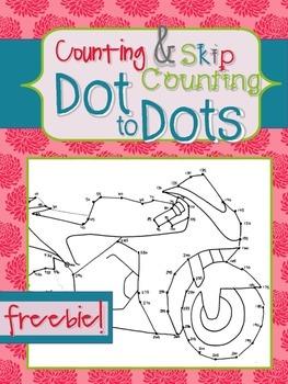 Skip Counting Dot-to-Dot FREEBIE