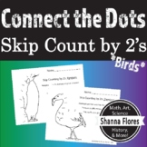 Skip Counting Dot to Dot, by 2's, 3's, and 4's, Animal Connect the Dots