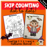 Skip Counting Dot to Dots by 2 3 4 5 10 Forwards or Backwards Halloween