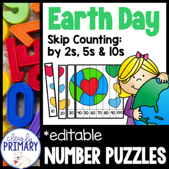 Skip Counting:  Earth Day Number Puzzles