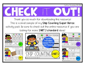 Skip Counting Exit Slips - 2.NBT.2