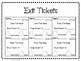 Skip Counting Worksheet. Exit Tickets