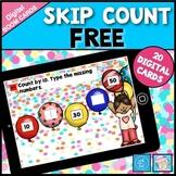 Skip Counting Game Kindergarten 1st Grade FREE Boom Cards Math