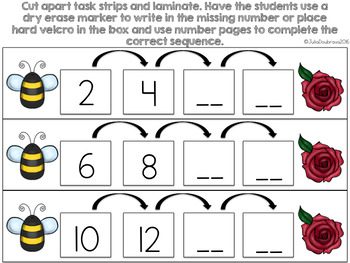 Skip Counting FREEBIE for students with Special Needs