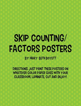 Skip Counting/Factors Posters