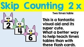 Skip Counting - Flash Card Pack 2x 5x 10x FREEBIE