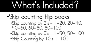 Counting Flipbook by 2,5 and 10