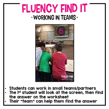 Skip Counting Fluency Find It