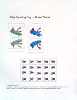 Skip Counting Frog Hop Game - Self Correcting / Reusable / Math Centre
