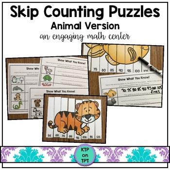 Skip Counting Game Animal Theme