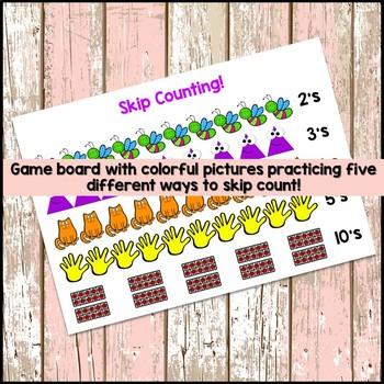 Skip Counting Game Freebie!