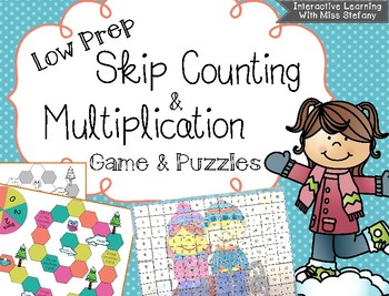 Skip Counting Game and Times Table Puzzles