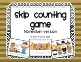 Skip Counting Game for November