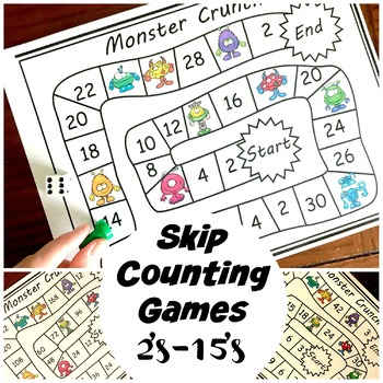 Skip Counting Games for Numbers 2 through 15