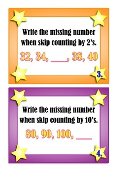 Skip Counting, Greater Than, Less Than and Equal To Scoot Game