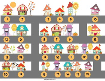 Skip Counting Halloween Trick Or Treat Skip Counting by 1-10 and 20 and 25!